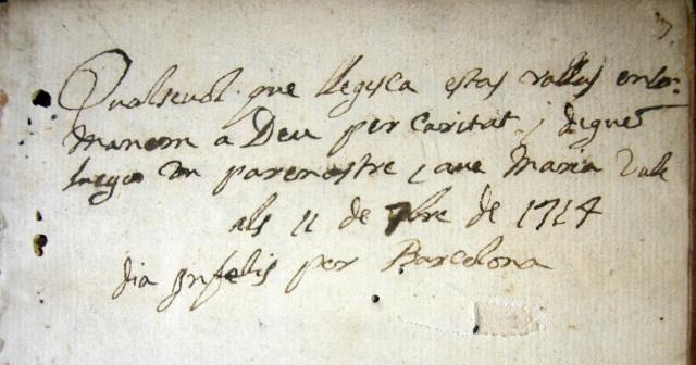 nota manuscrita