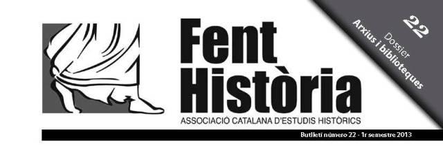 Logotip del butlletí de Fent Història