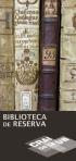 Publicació d'un tríptic informatiu de la Biblioteca de Reserva