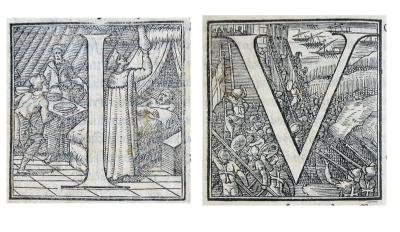 Caplletres historiades de l'edició de 1556.