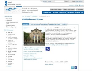 plana web CRAI Reserva