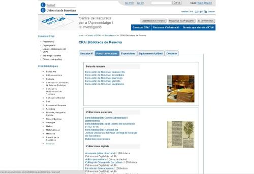 plana web col·leccions especials