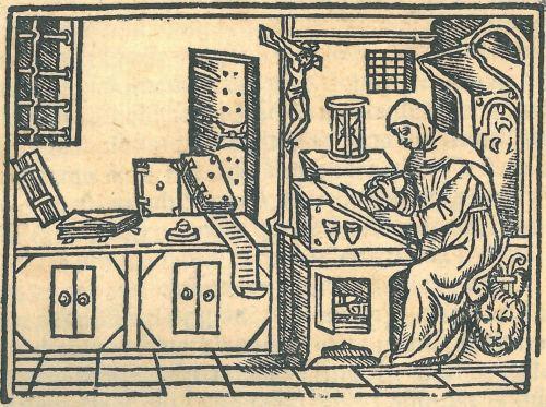gravat de Savonarola al seu estudi